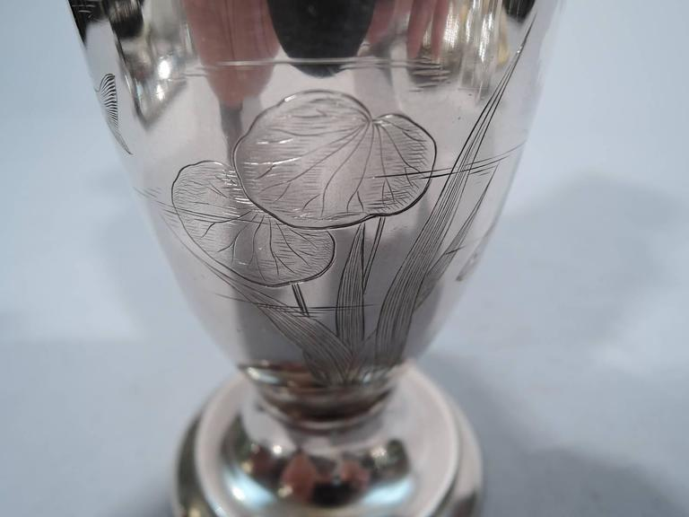 Gorham Japonesque Antique Sterling Silver Amphora Vase For Sale 1