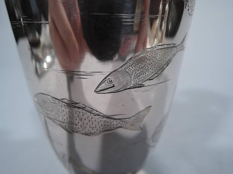 Gorham Japonesque Antique Sterling Silver Amphora Vase For Sale 2