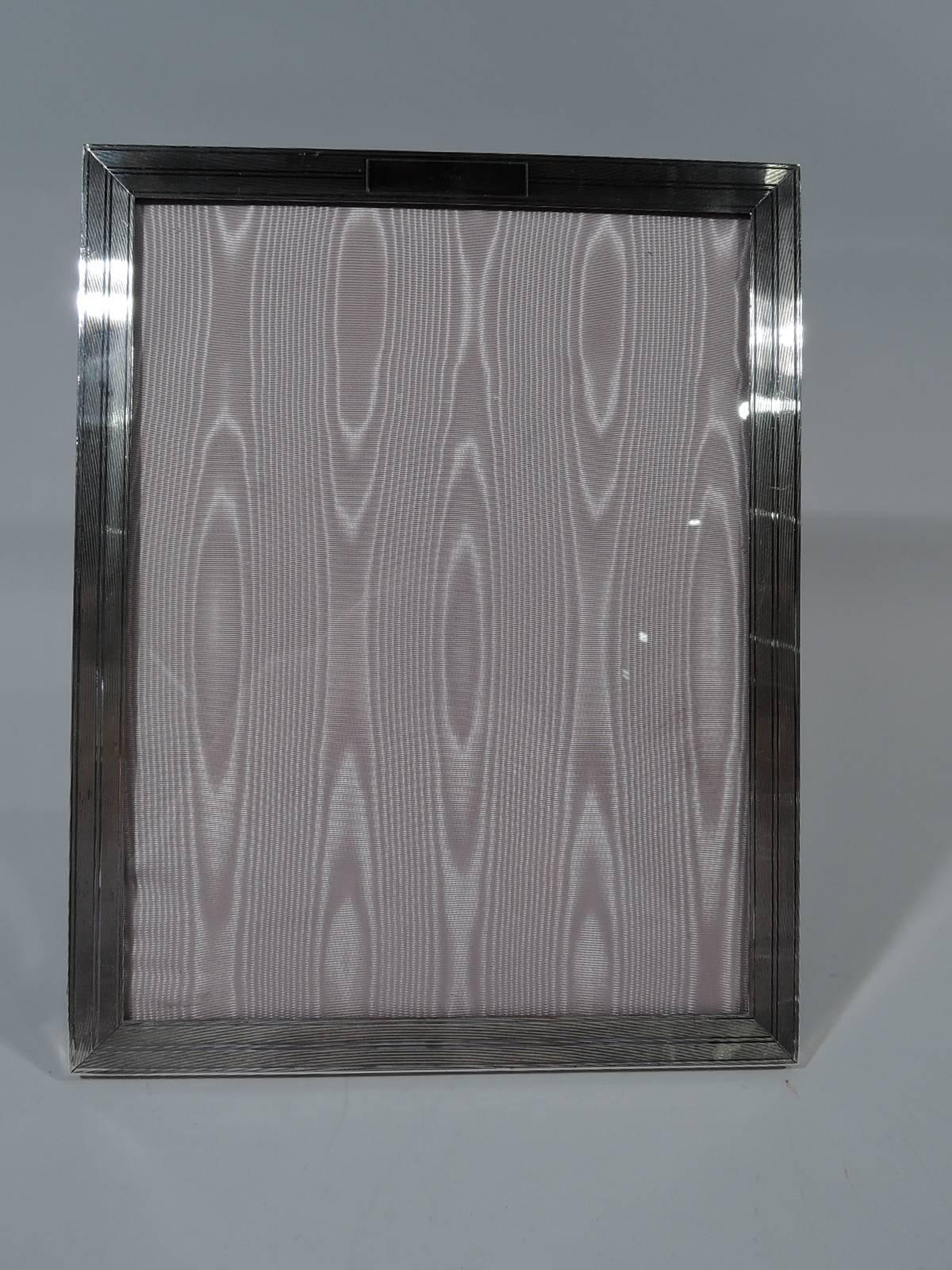 Art Deco Sterling Silver Picture Frame. Retailed By JE Caldwell In  Philadelphia. Rectangular Window