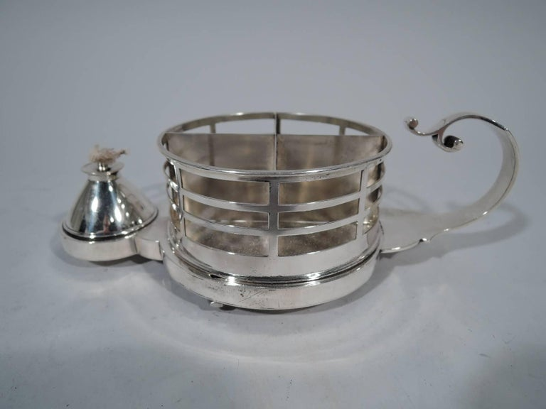 Victorian Antique English Sterling Silver Cigarette Cup and Lighter For Sale