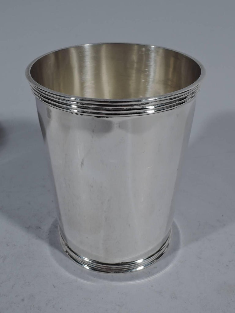 Set Of Four American Sterling Silver Mint Julep Cups For