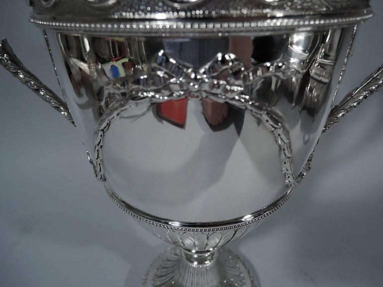 Early 20th Century Antique English Neoclassical Sterling Silver Trophy Cup For Sale