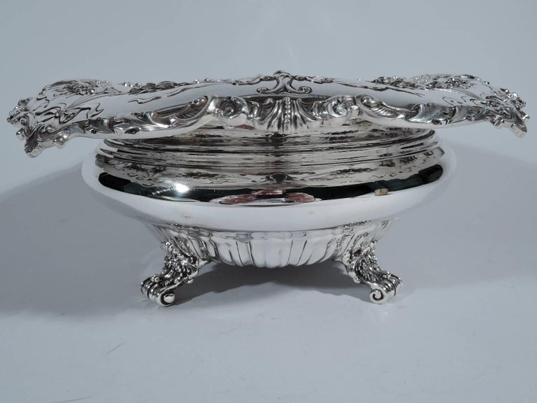 American Antique Gorham Edwardian Sterling Silver Centerpiece Bowl For Sale