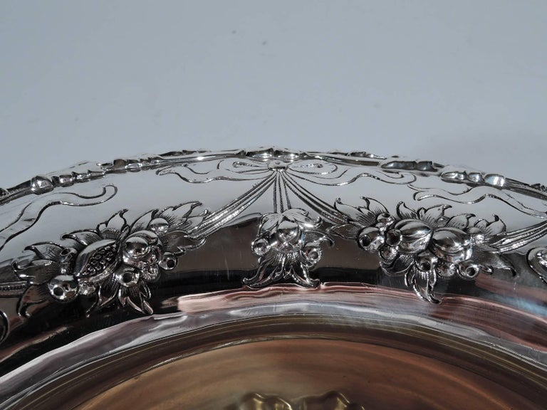 20th Century Antique Gorham Edwardian Sterling Silver Centerpiece Bowl For Sale