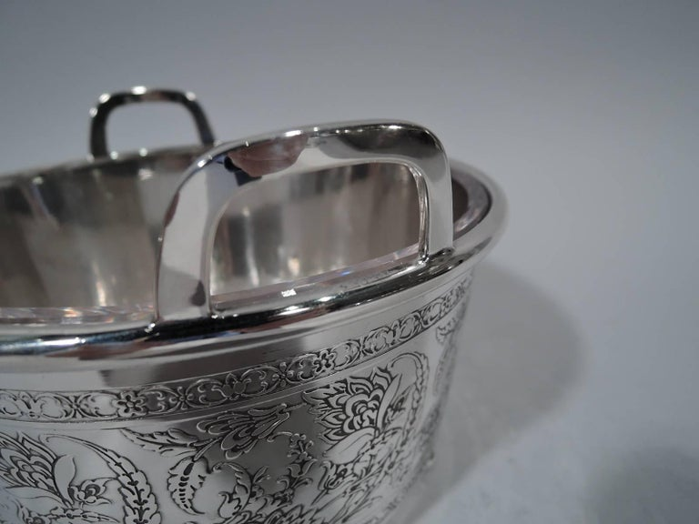 American Antique Tiffany Art Nouveau Sterling Silver Ice Bucket For Sale