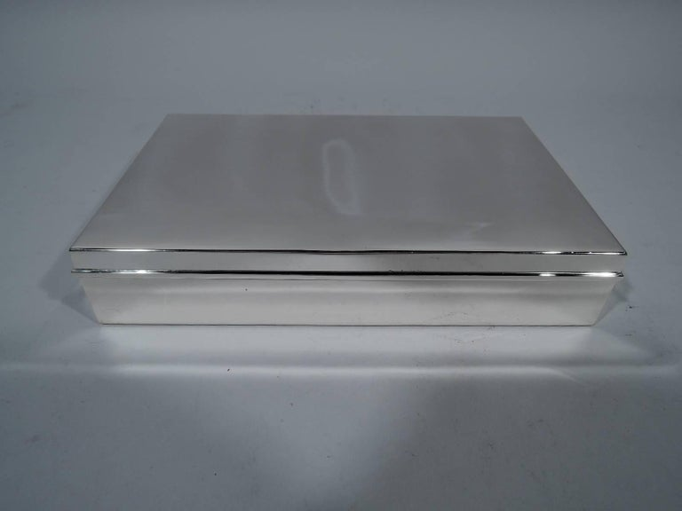 Tiffany Classic Large Sterling Silver Desk Box 2
