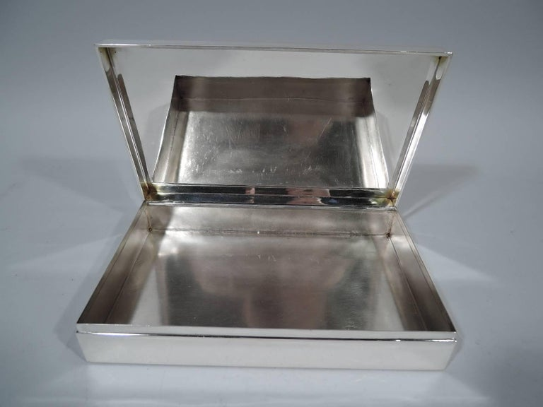 Tiffany Classic Large Sterling Silver Desk Box 5