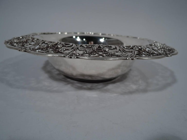 Antique Tiffany Edwardian Pierced Sterling Silver Bowl 2