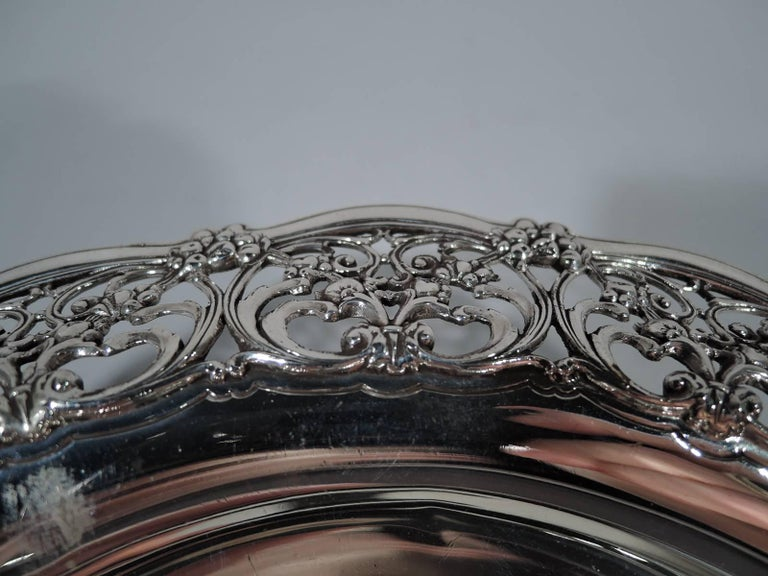 Antique Tiffany Edwardian Pierced Sterling Silver Bowl 3