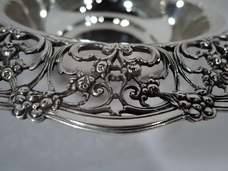 Antique Tiffany Edwardian Pierced Sterling Silver Bowl 4