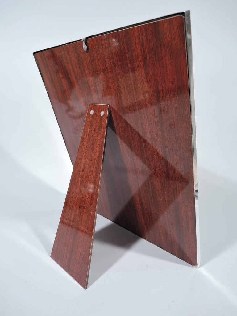 Large American Modern Sterling Silver Picture Frame by JE Caldwell For Sale 1