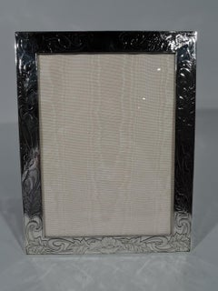 Antique American Art Nouveau Sterling Silver Picture Frame