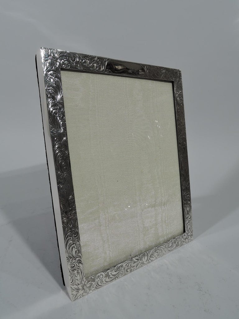 American Edwardian Sterling Silver Picture Frame For Sale at 1stdibs
