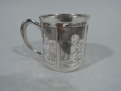 Antique Blackinton Sterling Silver First Step Baby Cup