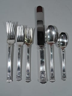Tiffany San Lorenzo Sterling Silver Dinner & Lunch Set for 12 with 170 Pieces