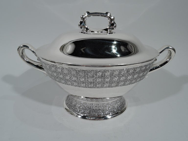 Antique Tiffany And Co Stylish Sterling Silver Soup