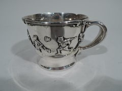 Gorham Edwardian Sterling Silver Allegorical Baby Cup