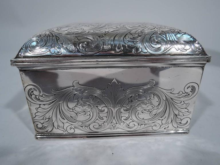 Antique Gorham Sterling Silver Jewelry Box at 1stdibs