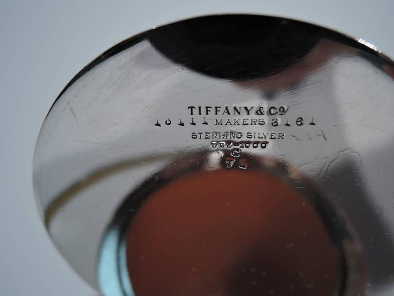 Rare Tiffany Favrile Glass and Sterling Silver Jam Jar In Excellent Condition In New York, NY