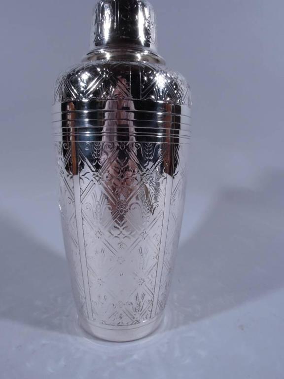 tiffany midcentury modern sterling silver cocktail shaker for sale at 1stdibs. Black Bedroom Furniture Sets. Home Design Ideas