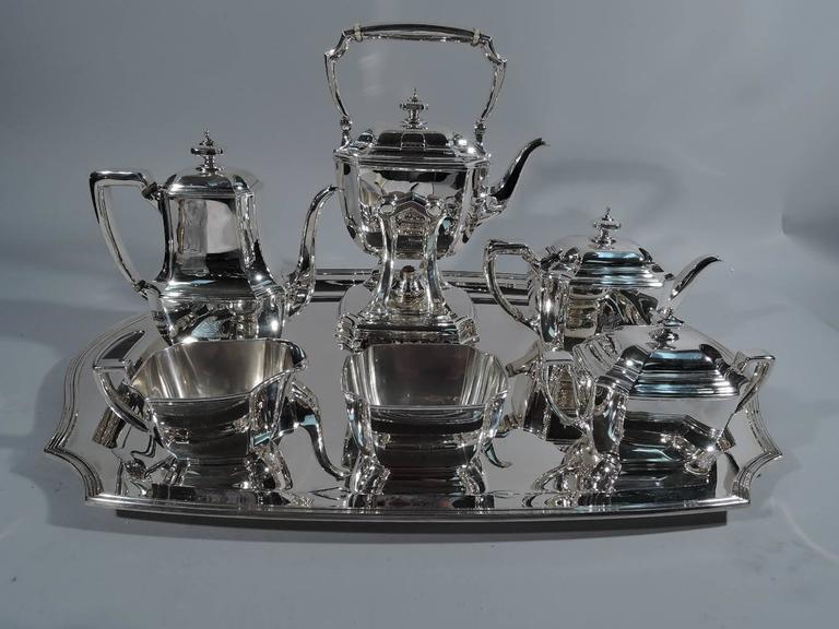Tiffany Hampton Sterling Silver Art Deco Tea And Coffee