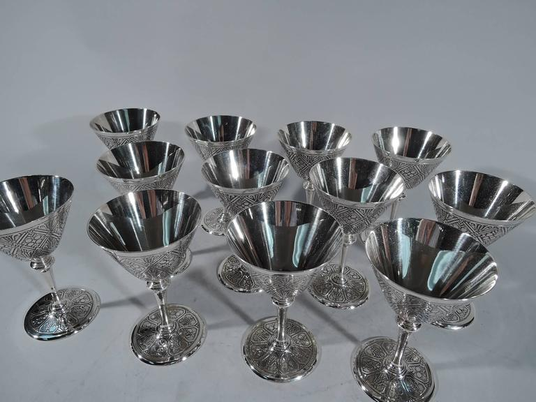 2d7666b05bb9 Set of 12 fabulous sterling silver cocktail cups. Made by Tiffany   Co. in