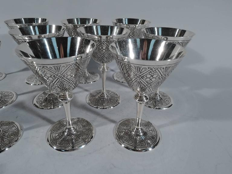 485b1e02548f Art Deco Set of 12 Fabulous Tiffany Sterling Silver Cocktail Cups For Sale