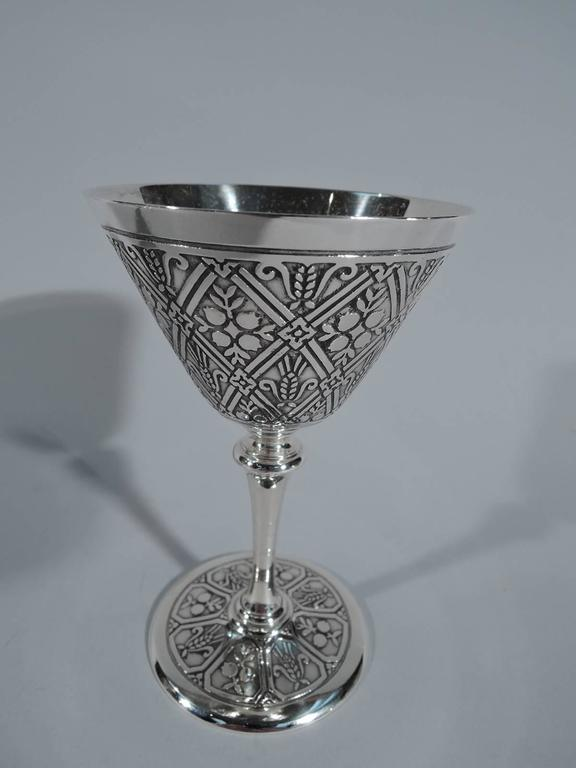fa3bac645a29 American Set of 12 Fabulous Tiffany Sterling Silver Cocktail Cups For Sale