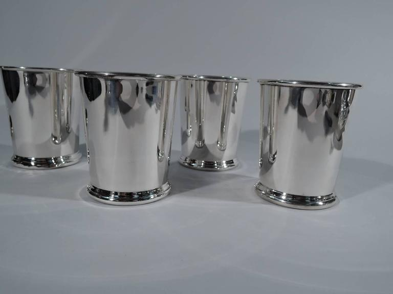 Modern Set of Four American Sterling Silver Mint Julep Cups by Preisner For Sale