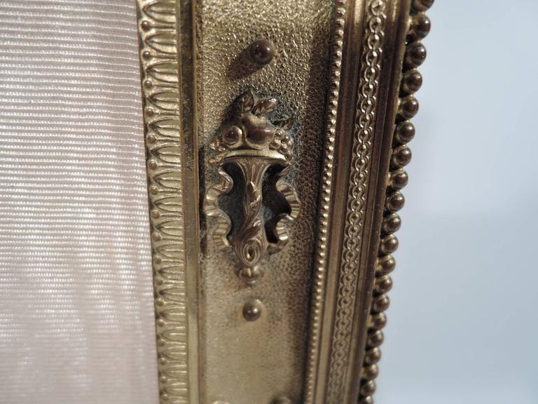Antique French Rococo Revival Gilt Bronze Picture Frame