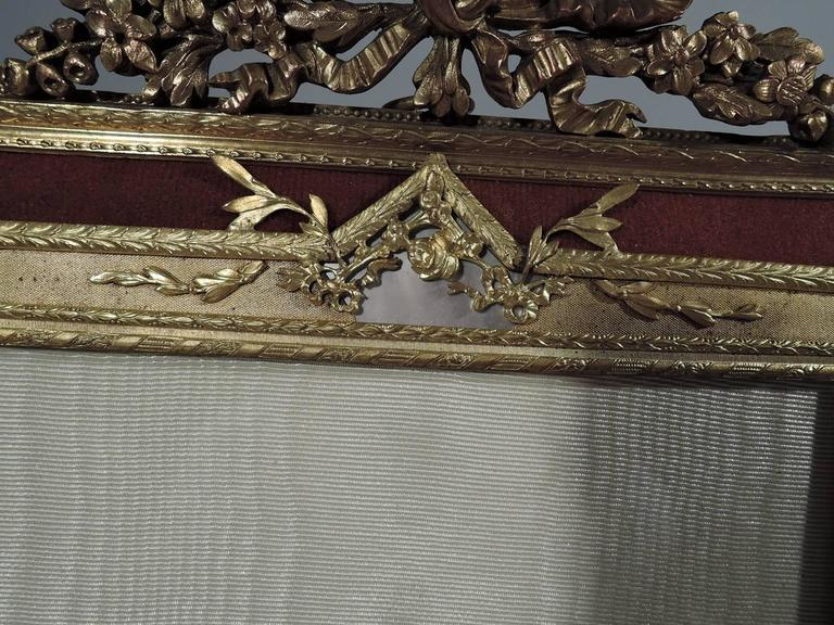 Large Antique Rococo Gilt Bronze And Mother Of Pearl