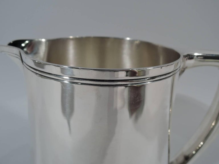 Tiffany Modern Sterling Silver Water Pitcher In Excellent Condition In New York, NY
