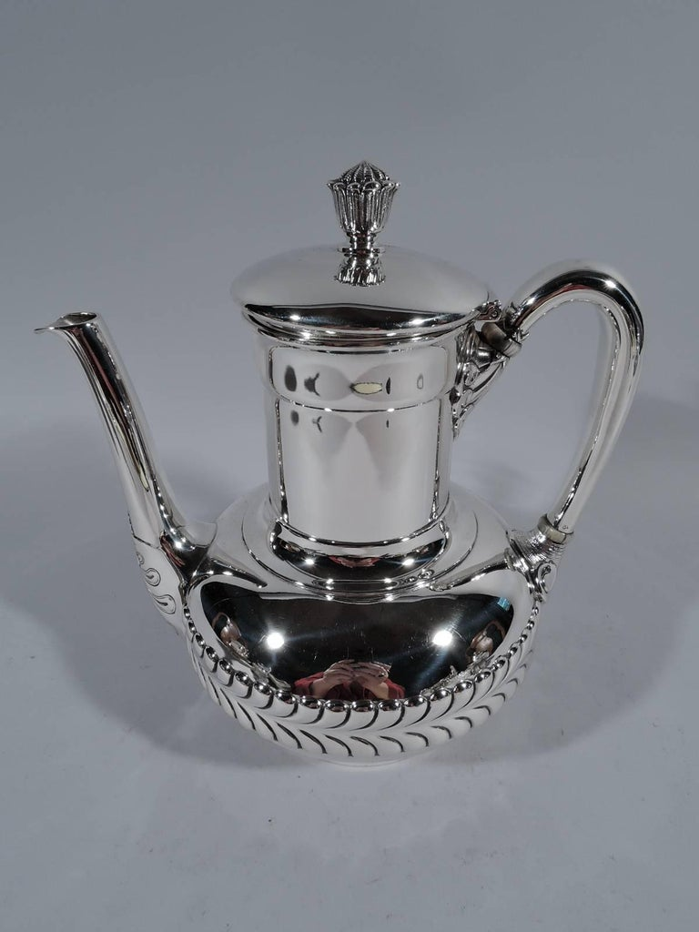Silver Tray Coffee Table Decorating Ideas: Antique Tiffany Sterling Silver Coffee Set On Tray For