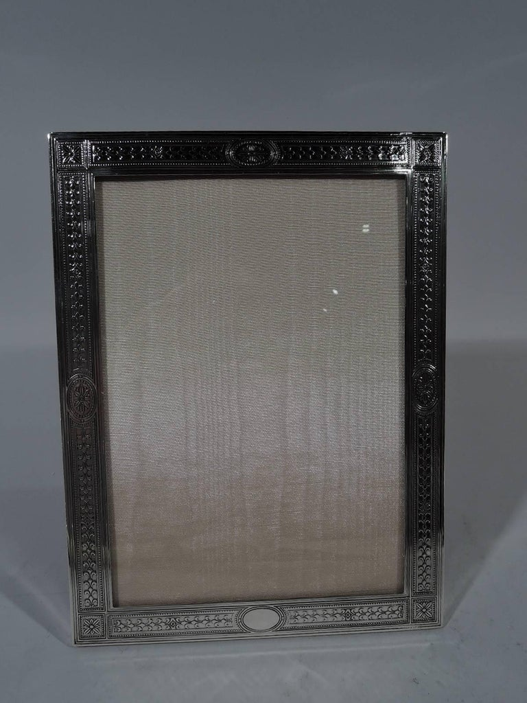 Tiffany edwardian regency sterling silver picture frame for sale edwardian regency sterling silver picture frame made by tiffany co in new york jeuxipadfo Image collections
