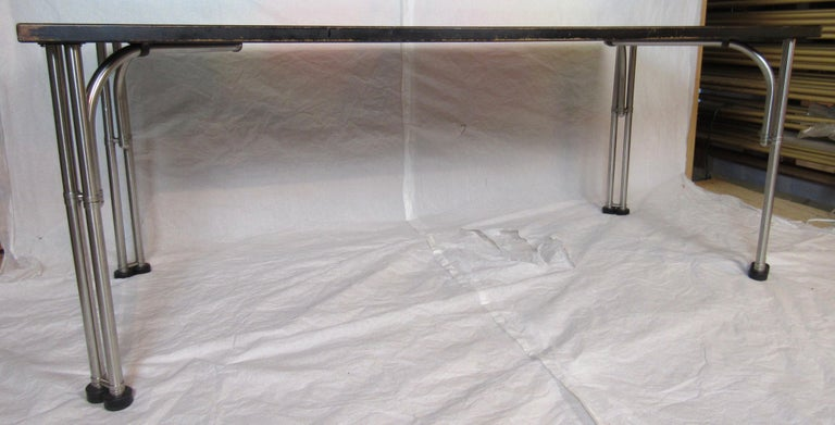Warren McArthur Library Work Table Stainless Steel, circa 1935 For Sale 1