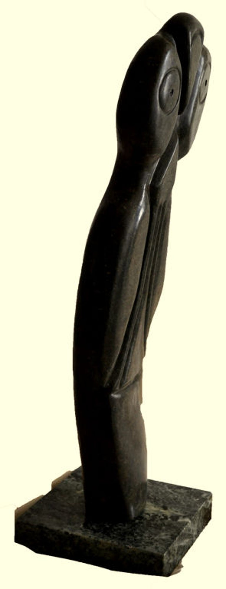 Carved Bauden Khoreay's, carved Stone Sculpture of Owl, Malawi, Africa, circa 1970 For Sale