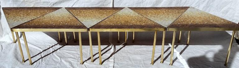 Genaro Alvarez 6 Piece Glass Tiled Mosaic Coffee Table