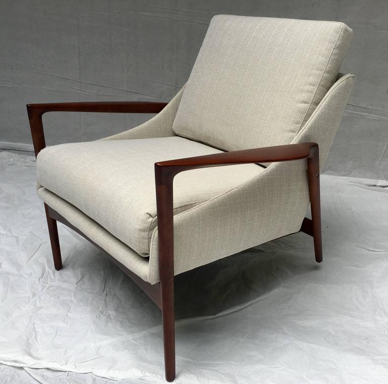 Ib Kofod Larsen Lounge Chair And Ottoman At 1stdibs