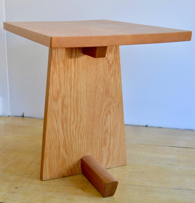 Minguren side table by Mira Nakashima in white oak from 1996. Signed and dated on the underside. The table is in excellent original condition.