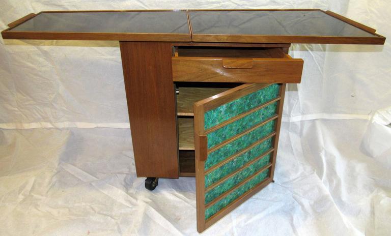 American Edward Wormley for Dunbar Bar Cart, Model 5433, circa 1953  For Sale