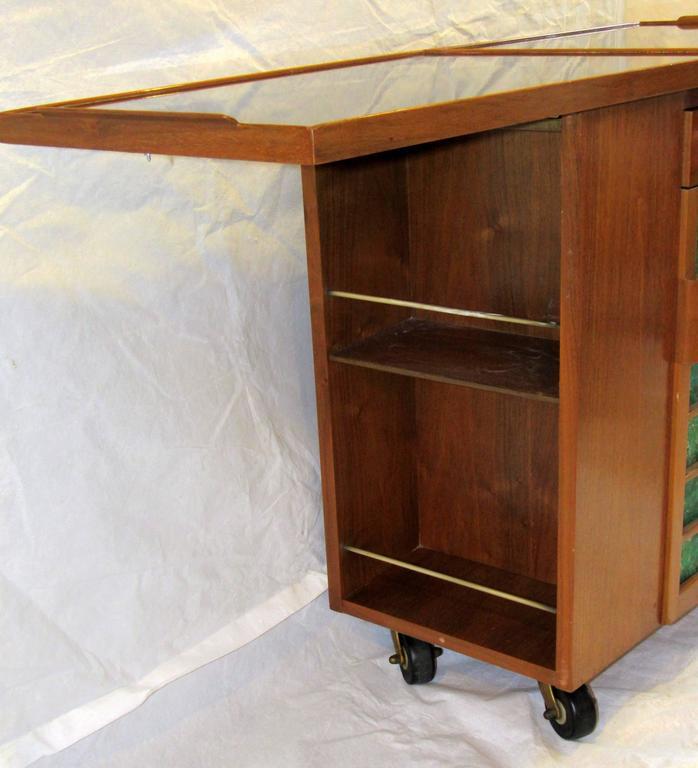 Edward Wormley for Dunbar Bar Cart, Model 5433, circa 1953  In Excellent Condition For Sale In Camden, ME