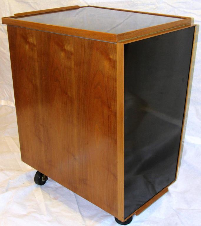 Walnut Edward Wormley for Dunbar Bar Cart, Model 5433, circa 1953  For Sale