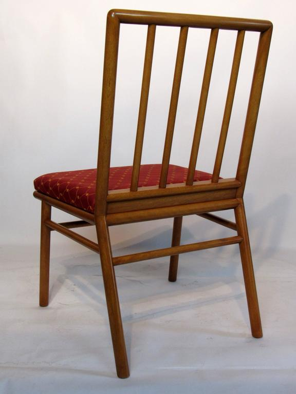 Mid-Century Modern T.H. Robsjohn-Gibbings Set of Six Dining Chairs  for Widdicomb, circa 1952 For Sale