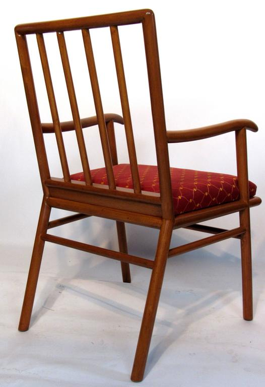American T.H. Robsjohn-Gibbings Set of Six Dining Chairs  for Widdicomb, circa 1952 For Sale