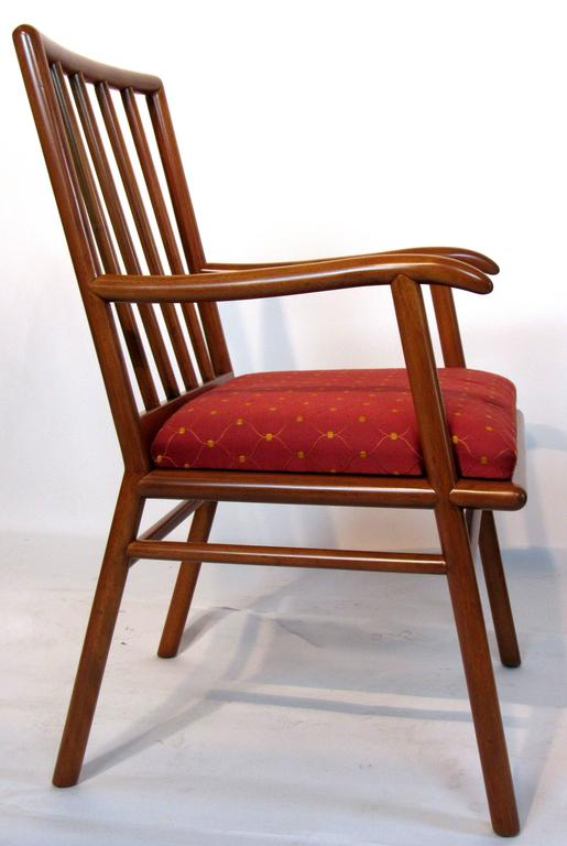 Lacquered T.H. Robsjohn-Gibbings Set of Six Dining Chairs  for Widdicomb, circa 1952 For Sale