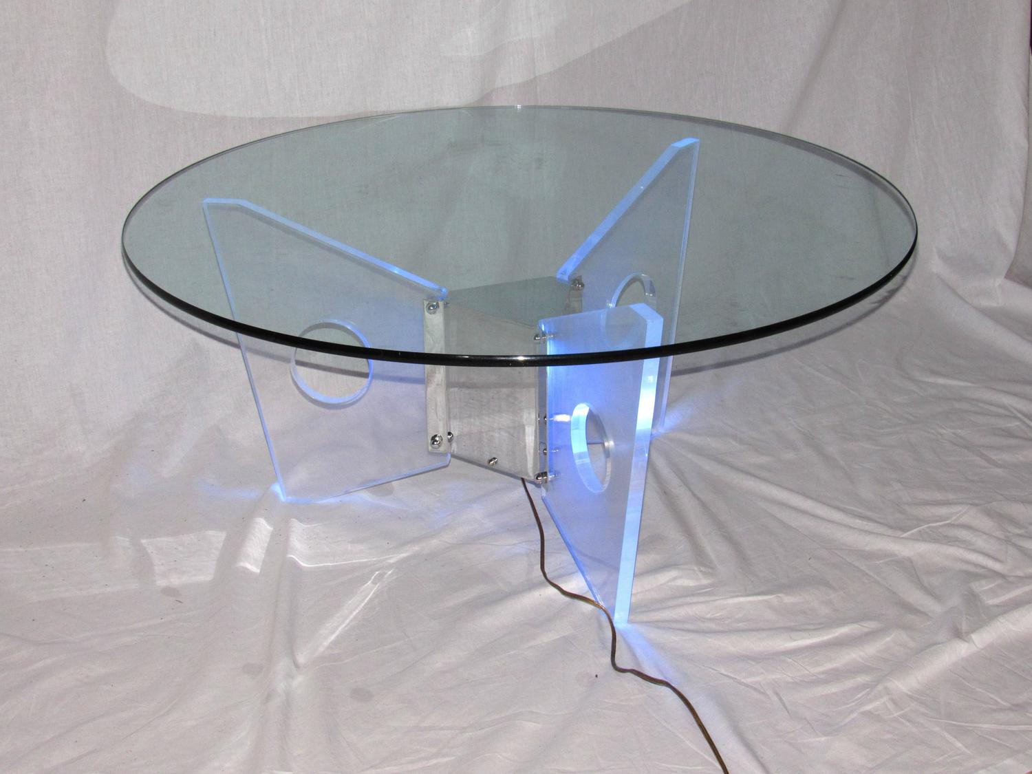 Illuminated Lucite Coffee Table Circa 1970 For Sale At 1stdibs