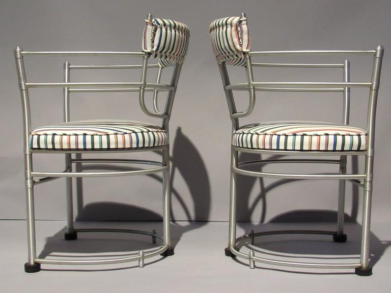 Machine Age Pair of Warren McArthur Armchairs, Model 1044, 1933 to 1935 For Sale