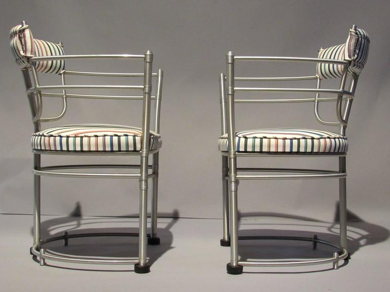 American Pair of Warren McArthur Armchairs, Model 1044, 1933 to 1935 For Sale