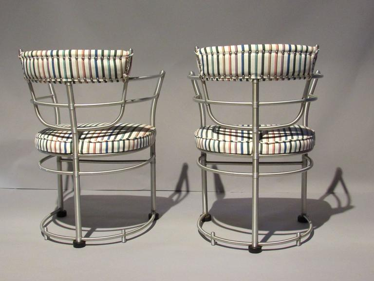 Anodized Pair of Warren McArthur Armchairs, Model 1044, 1933 to 1935 For Sale