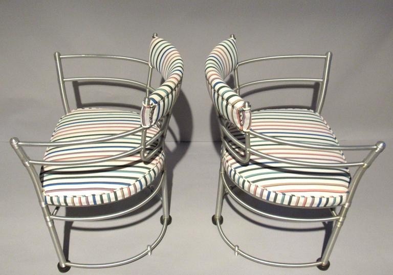 Pair of Warren McArthur Armchairs, Model 1044, 1933 to 1935 In Good Condition For Sale In Camden, ME